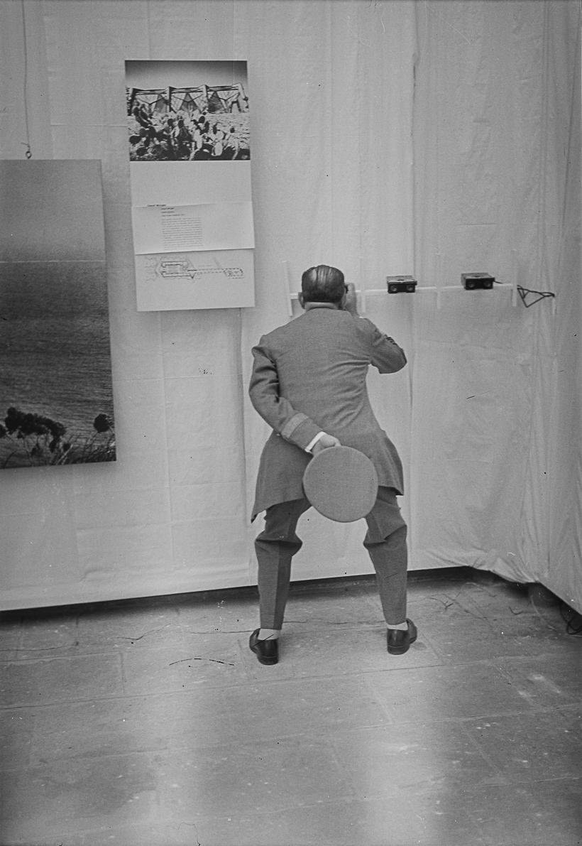 Inauguració de la III Bienal Hispanoamericana de Arte. Barcelona, 1954