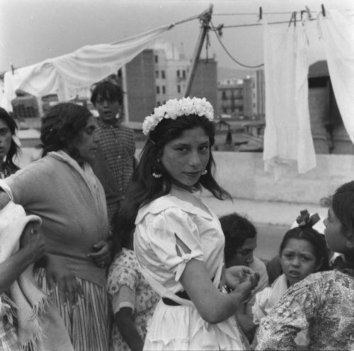 Boda de La Lorenza i El Chele. Montjuïc. Barcelona, 1960
